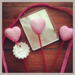 Valentines Day Craft Using Chalkboard Paint Paper